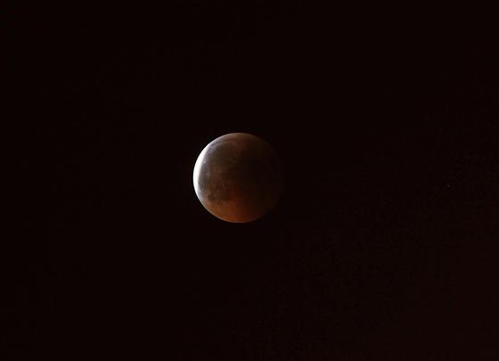 Fotografía del eclipse en Australia.  Foto: Agencias