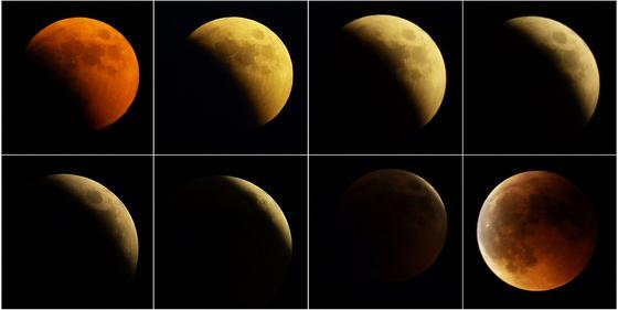 Montaje del eclipse visto desde Belgrado (Serbia).  Foto: Agencias