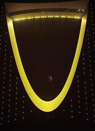 En Riad (Arabia Saudí), se pudo obtener esta imagen desde la torre Al-Mamlaka.  Foto: Agencias