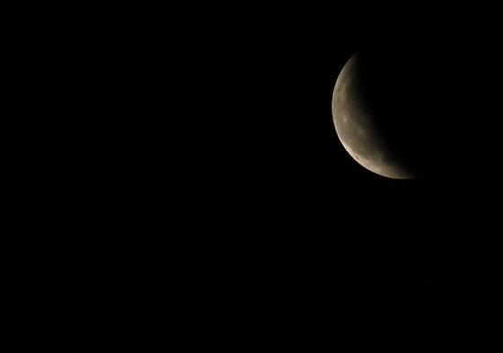 El eclipse, en Málaga.  Foto: Agencias
