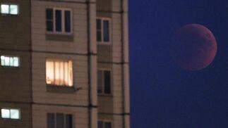 El eclipse en Rusia.  Foto: Agencias