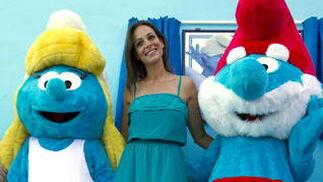 Comienza la promoción de la película 'Los pitufos 3D'.   Foto: Jorge Zapata / Efe
