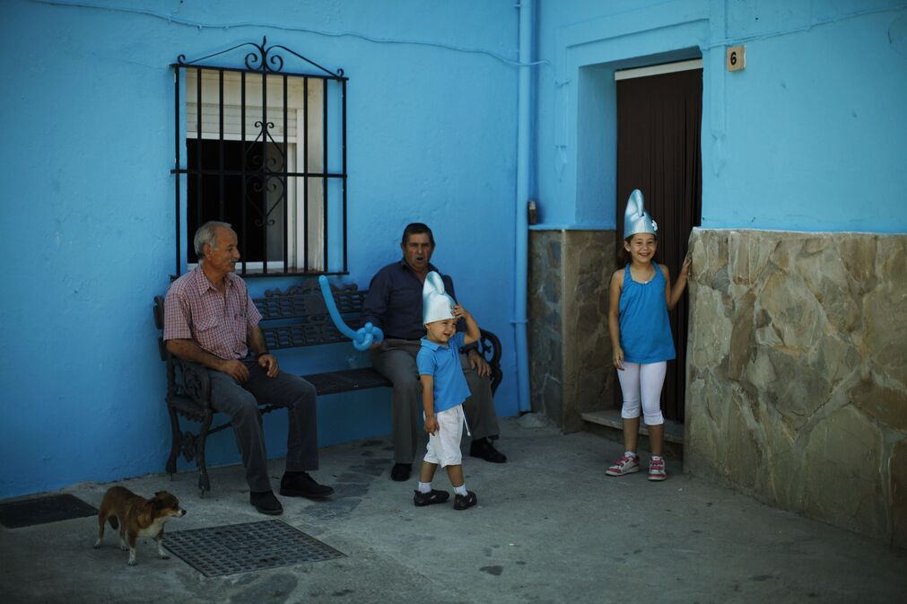 El 'pueblo pitufo' en imágenes