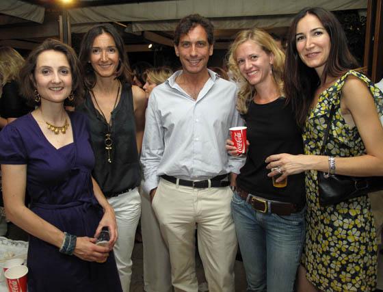 Chiara de Cabarrús, Pilar Marín, José Miguel Trigo, Katherine Elizabeth Stay y Elena Marín.  Foto: Victoria Ramírez