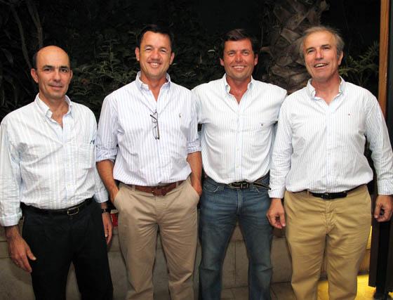 Ignacio Loring, Carlos Pérez, Juan Ternero y Ramón García Alvear.  Foto: Victoria Ramírez