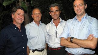 Salvador García, José Luis Delgado, Rafael Alcoba y Fernando Vázquez.  Foto: Victoria Ramírez