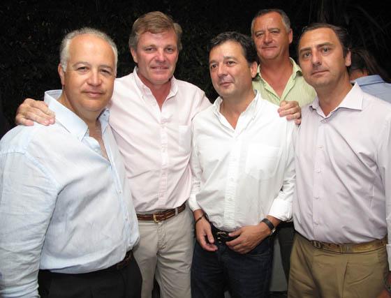 Manuel Sánchez-Megías, Carlos Medina, Federico García-Corona, barón de La Puebla Tornesa; Alfredo Moreno del Camino y Julián García-Borbolla.  Foto: Victoria Ramírez