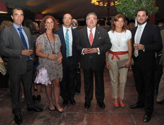 Francisco Escarti, Manuel Mesa, Irene Márquez, Evaristo Ramos, Encarnación Martín y Antonio Luis Suárez.  Foto: Victoria Ramírez