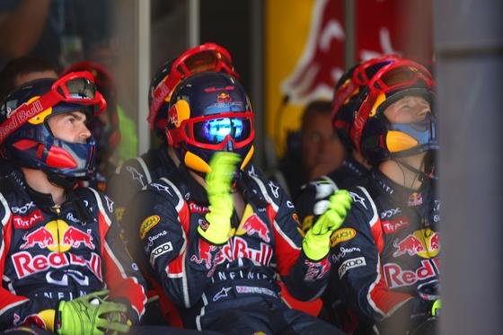 El equipo Red Bull.  Foto: AFP Photo