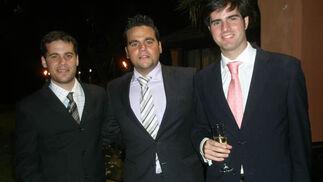 Luis Barranca Jiménez (PJ.1), Adrián Pérez Jiménez y José Gonzalo Ortega Camarero (de PJ.1)