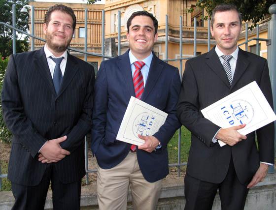 David González, Daniel Cordero y Mario Romero Llinás, del Programa de Práctica Jurídica del Icide.  Foto: Victoria Ramírez