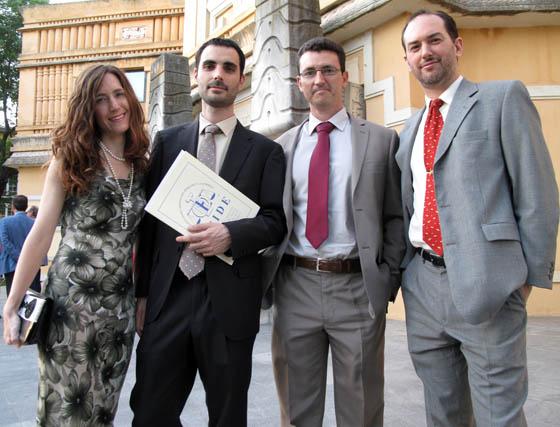 Ana Jiménez, Juan Manuel Delgado, (PJ) y los abogados José Carlos Martín y Carlos Fernández-Andrade, del Programa Experto en Mediación Familiar.   Foto: Victoria Ramírez