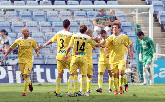 Los jugadores del Cartagena celebran un gol.  Foto: Josue Correa