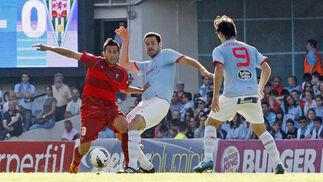 El Córdoba se clasifica para los 'play off' tras empatar sin goles con el Celta.  Foto: LOF