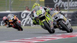Las imágenes de la carrera de Moto2 del Gp de Cataluña.  Foto: AFP