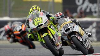 Las imágenes de la carrera de Moto2 del Gp de Cataluña.  Foto: EFE