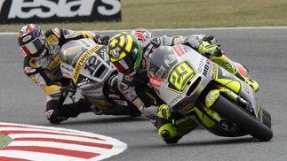Las imágenes de la carrera de Moto2 del Gp de Cataluña.  Foto: Reuters