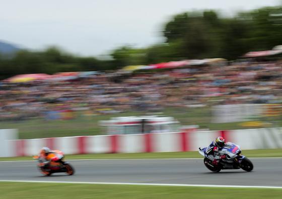Las imágenes de la carrera de MotoGP en el GP de Cataluña.  Foto: AFP