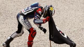Las imágenes de la carrera de MotoGP en el GP de Cataluña.  Foto: EFE