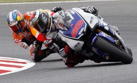 Las imágenes de la carrera de MotoGP en el GP de Cataluña.  Foto: Reuters