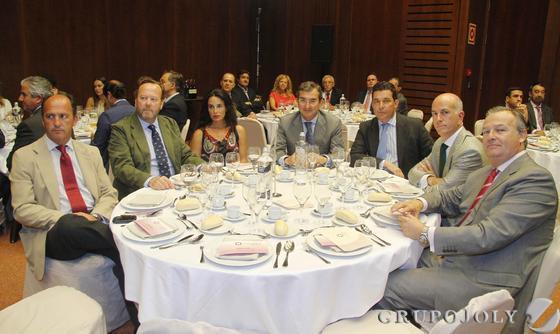 Rodrigo Molina, Pablo Beca, Isabel Aguilar, Antonio Fragero, Juan Manuel Rufino, José Torroja y José A. de la Torre.  Foto: Victoria Hidalgo / Juan Carlos Vazquez