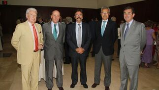 Miguel Nuche, Salvador Loring, Javier de Domingo, Pablo Gutiérrez-Alviz y Antonio Fragero.  Foto: Victoria Hidalgo / Juan Carlos Vazquez