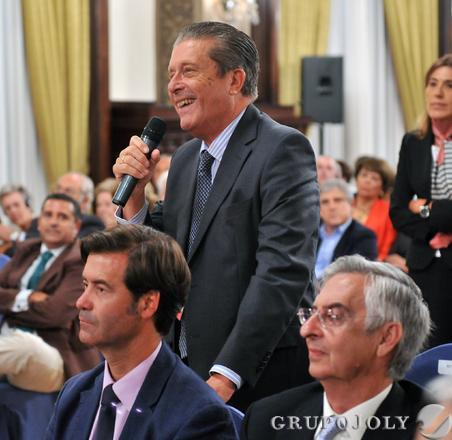 Federico Mayor Zaragoza, en el coloquio posterior.  Foto: Juan Carlos Vazquez/Victoria Hidalgo