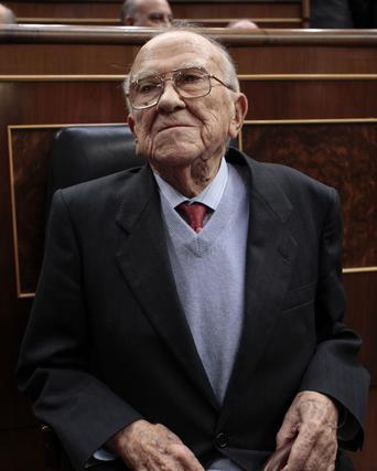 Santiago Carrillo en el Congreso.  Foto: Efe/Afp photo/Reuters
