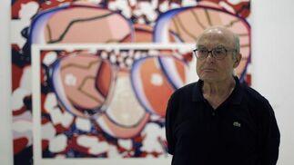 Imágenes de la inauguración de 'Contraespejo-s', de Luis Gordillo, en la Galería Rafael Ortiz. / Antonio Pizarro