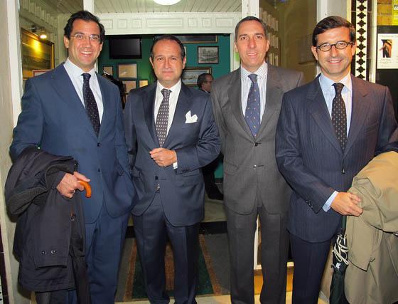 Pedro Fernández (Popular Banca Privada), Alberto Pérez-Solano, socio director de Altius MA Abogados; Emilio Vieira (Asaja) y Jorge Paradela (Cruzcampo).  Foto: Victoria Ramírez