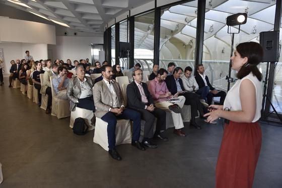 Elena Solera en su presentación de Commerce 360.  Foto: Juan Carlos Vázquez