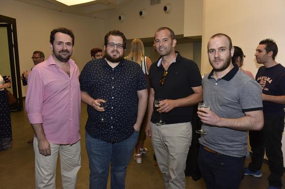 Jesús Ollero, Jaime Aranda, de workINcompany; Miguel Ángel Martín, de Falc0n IT; y José Manuel Sánchez.  Foto: Juan Carlos Vázquez