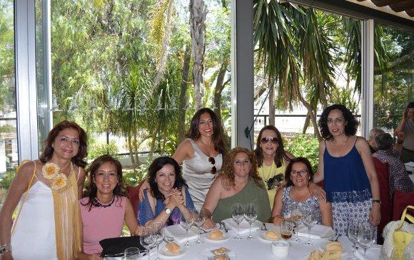 José Herminia Pérez Luna, Pilar Cuevas, Pilar Carrasco, Margarita Chamorro, Inma Díaz, Concha Rodríguez, Lourdes Valiente.  Foto: Ignacio Casas de Ciria