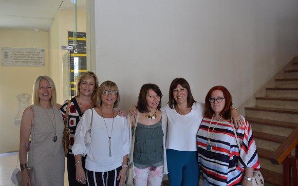 María  Castro, Encarna Gil, Sara Cánovas, Carmen Gallardo, Mina Ariza y Victoriana Gaztelu.  Foto: Ignacio Casas de Ciria