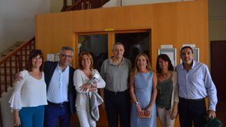 Carmen Gallardo, Manolo Geraldia, Yolanda Martín, Joaquín Luque, Pura Mayor, Victoriana Gaztelu y Eusebio Rocha.  Foto: Ignacio Casas de Ciria