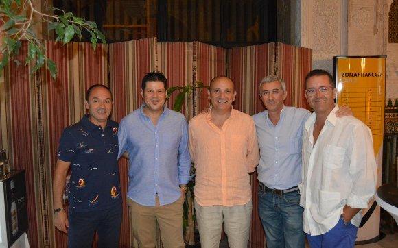 Antonio Lima, Javier Castillo, Carlos Melero, Sergio Fernández y José Herce.  Foto: Ignacio Casas de Ciria