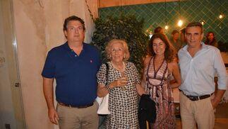 Fonsi Domecq, Helena Gómez, Keka Monedero y Rafael del Cuvillo.  Foto: Ignacio Casas de Ciria