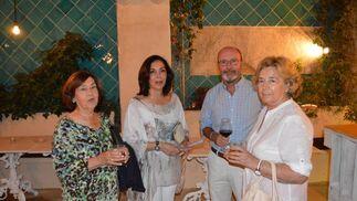 Guadalupe Plaza, Arancha Manrique, Humberto Ybarra y Pilar Sánchez.  Foto: Ignacio Casas de Ciria