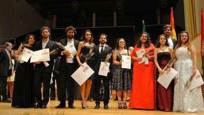 Ganadores del concurso de ópera celebrado el pasado septiembre.
