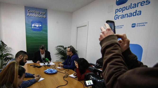 José Torrente, ayer, en su valoración de la ejecutiva de Juanma Moreno.