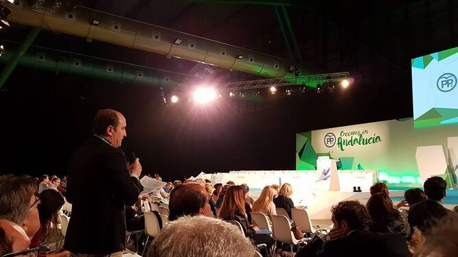 Juan García Montero en su intervención en el congreso regional del PP-A.