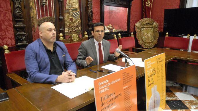 Jesús Ortega y Paco Cuenca, en la presentación del programa cultural.