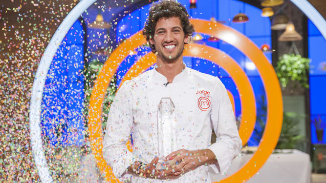Brazalez tras alzarse con el premio en el concurso televisivo.