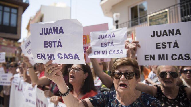 En Maracena se han celebrado varias concentraciones de apoyo a Juana.