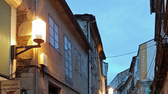 La salida desde el municipio de Sarria.