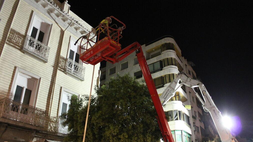 Imágenes del derribo del Hotel Montecarlo