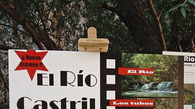 El cartel de la exposición del río Castril.