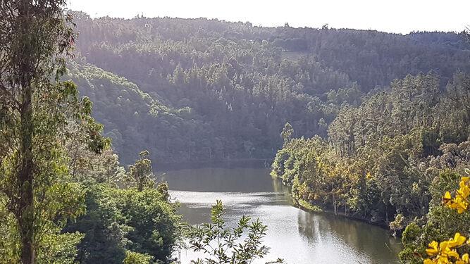 Vista del pantano de Pontedemouros.