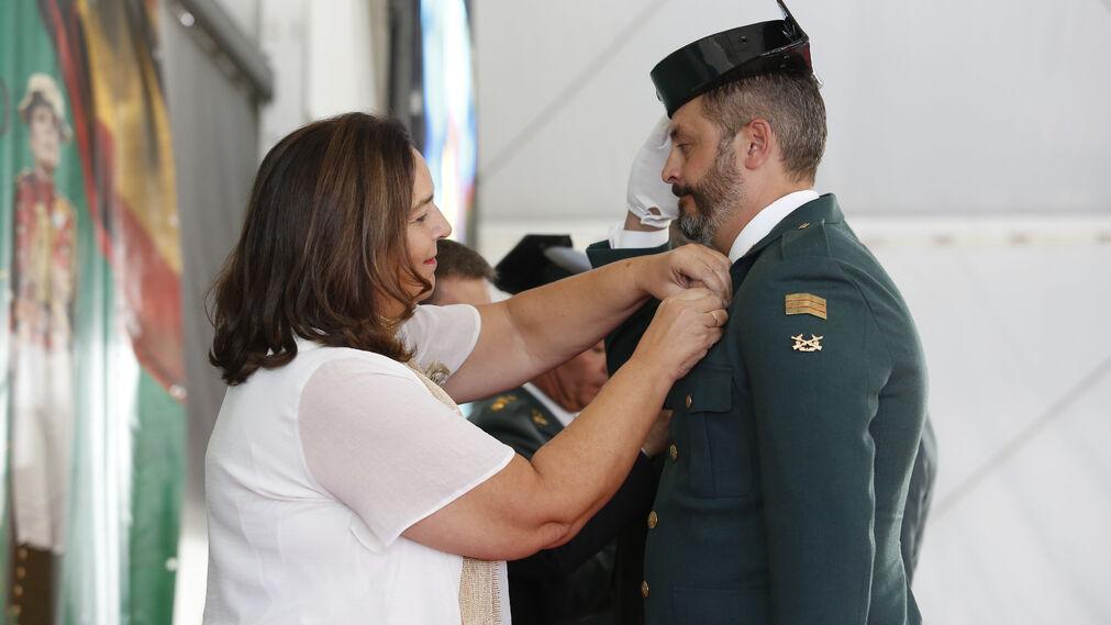 Imágenes del acto de celebración de la patrona de la Guardia Civil