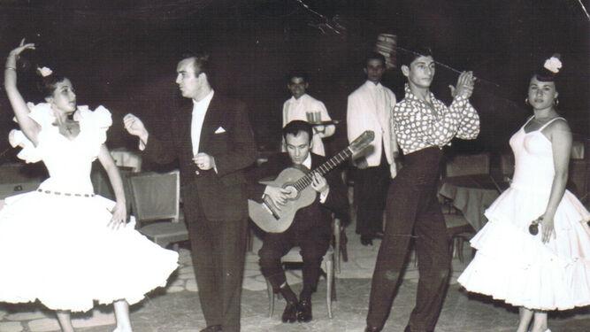 Con Carrete, en el tablao El Mañana, en los años 60.